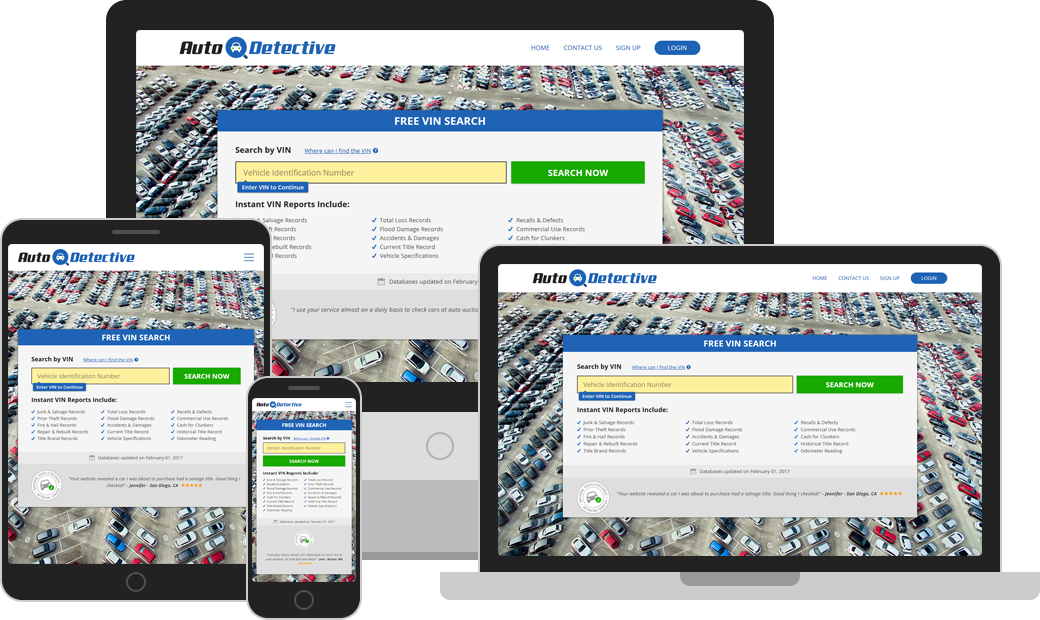 Access AutoDetective.com from any device, anywhere and anytime!