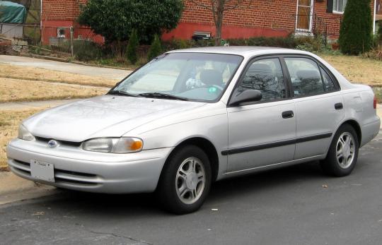 1998 Chevrolet Prizm Vin 1y1sk5281wz405982
