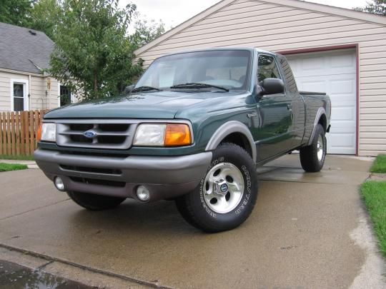 1996 ford ranger tire size