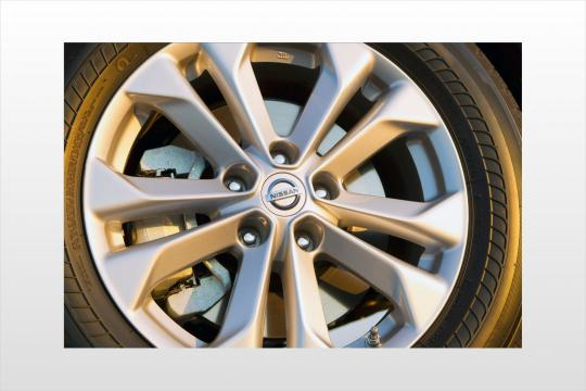 nissan rogue spare tire location