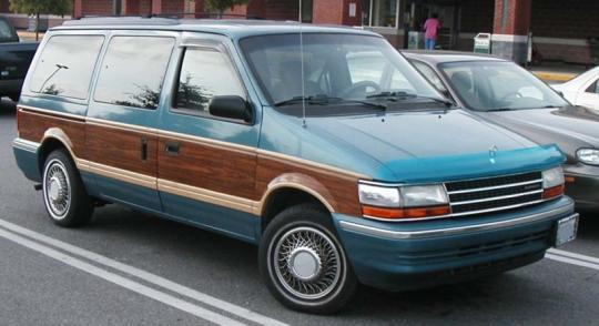 on 1996 Dodge Caravan Green