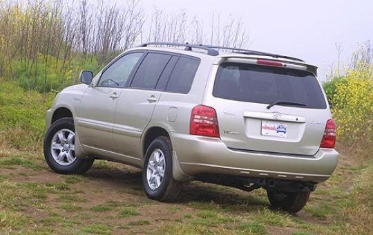 2002 Toyota highlander recall