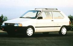 1992 Subaru Justy exterior